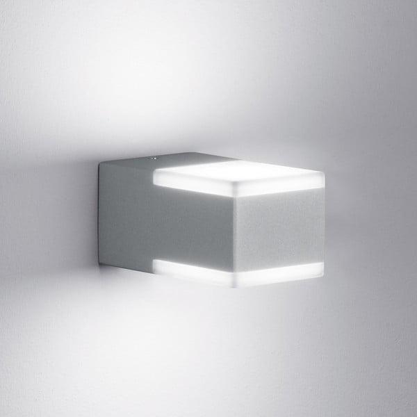 Venkovní nástěnné světlo Don Titanium, 7 cm
