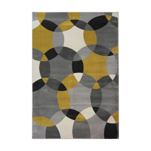 Koberec Flair Rugs Cocktail Cosmo Grey Ochre, 120 x 170 cm