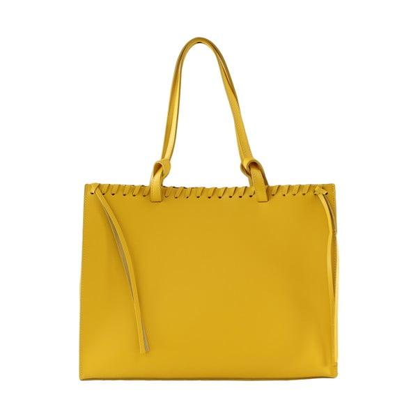 Kožená kabelka Linda, žlutá