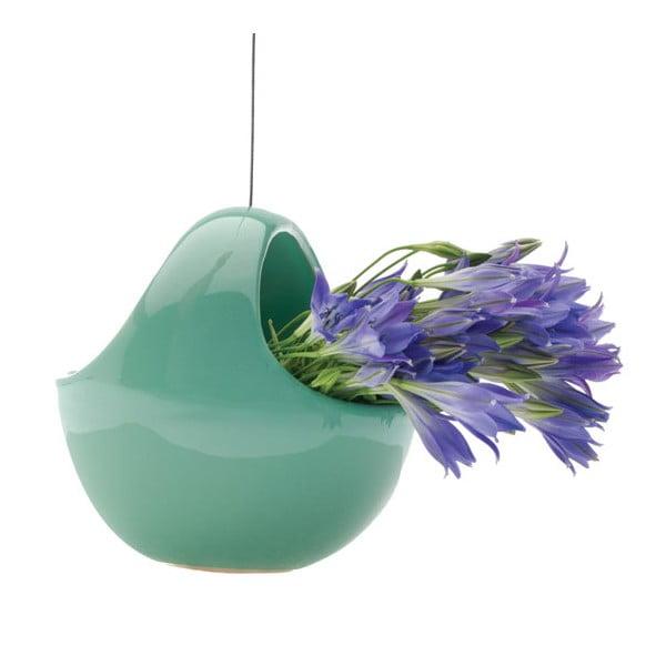Závěsný květináč Nest, zelený