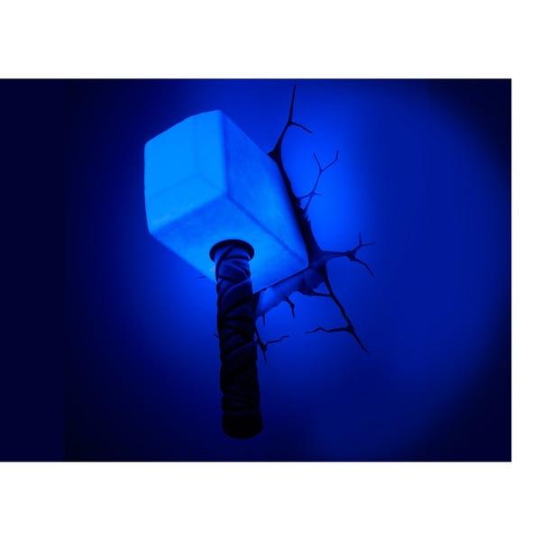 Nástěnné světlo s nálepkou Thor Hammer
