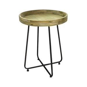 Odkládací stolek z kovu a dřeva borovice Red Cartel, Ø 45 cm