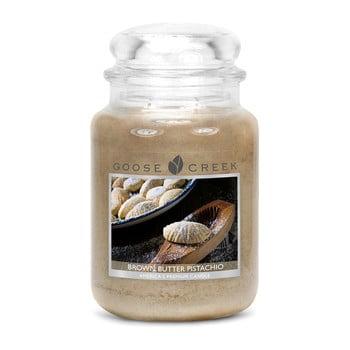 Lumânare parfumată în recipient de sticlă Goose Creek Brown Butter Pistachio, 150 ore de ardere imagine