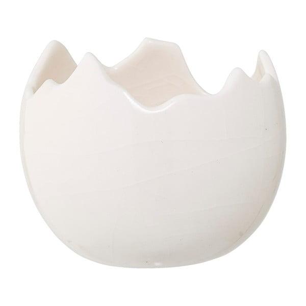 Bílý kameninový svícen Bloomingville Easter, ⌀9,5cm
