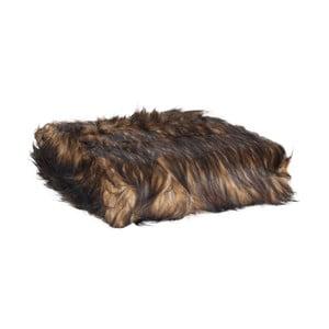 Hnědý pléd Clayre & Eef Fur, 130x180cm