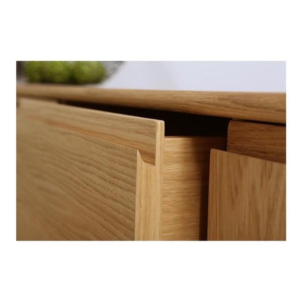 Nízká komoda z dubového dřeva We47 Havvej