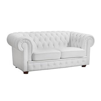 Canapea cu 2 locuri din piele ecologică Max Winzer Bridgeport alb