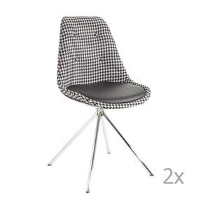 Set 2 scaune 13Casa Lars, negru - alb