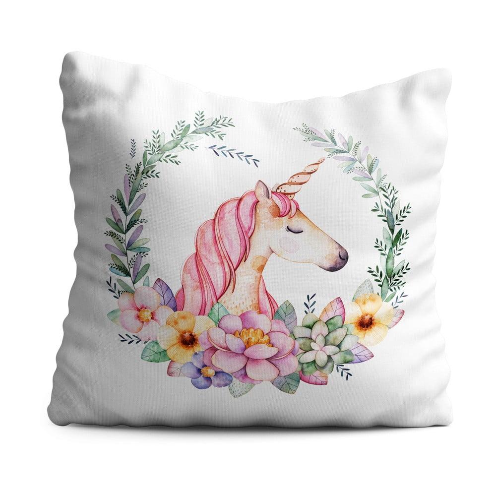 Dětský polštář OYO Kids Elegant Unicorn, 40 x 40 cm