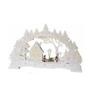 Svítící dekorace Little Village, bílá