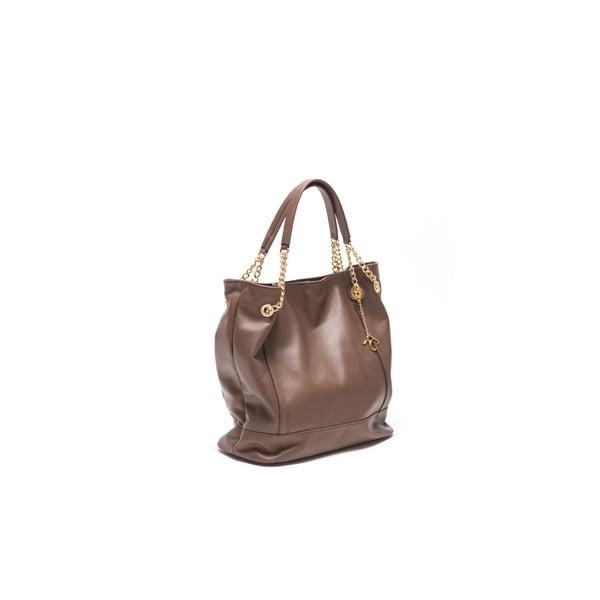 Kožená kabelka Tote 2089 Fango