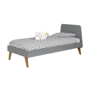 Dětská šedá postel JUNIIOR Provence Oskar Junior, 90x200cm