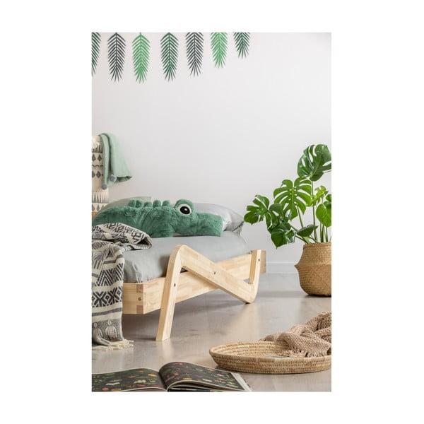 Pat din lemn de pin pentru copii Adeko Zig, 80 x 180 cm