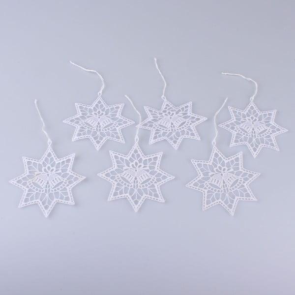 Háčkované závěsné ozdoby ve tvaru hvězdy Dakls