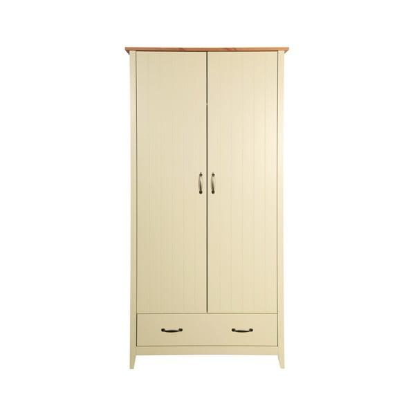 Norfolk krémszínű ruhásszekrény, 192 x 99 cm - Steens