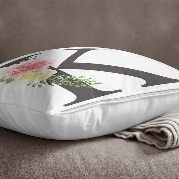 Față de pernă Minimalist Cushion Covers Floral Alphabet K, 45 x 45 cm