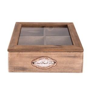 Dřevěný úložný box na čaj Clayre&Eef Hurasso