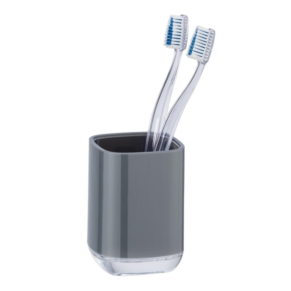 Šedý kelímek na zubní kartáčky Wenko Masone