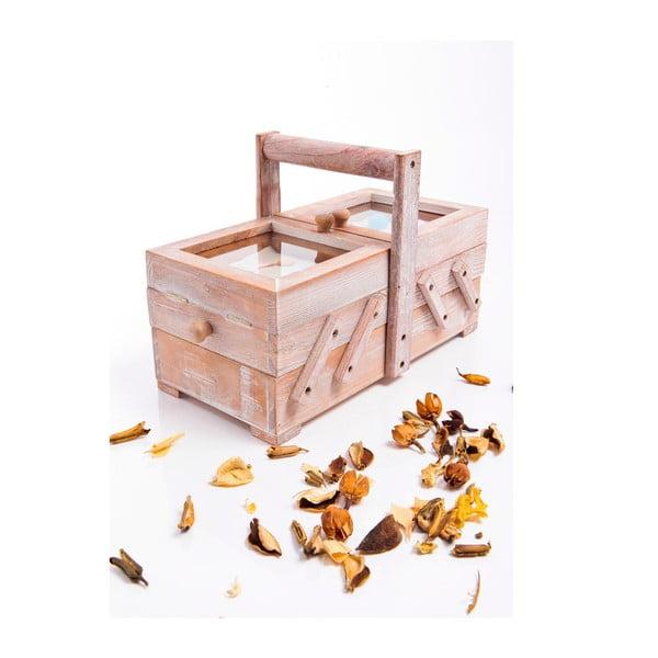 Dřevěná krabička na šití, rozkládací