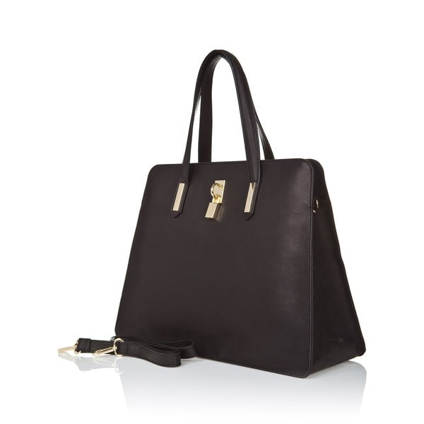 Černá kožená kabelka Markese Tasia