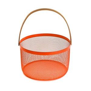 Oranžová mísa na ovoce s uchem Versa Fruit Bowl