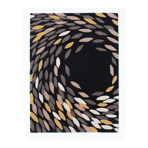 Koberec Flair Rugs Swirl Black/Gold, 160 x 230 cm