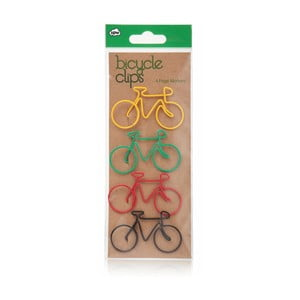 Sada 4 dekorativních spon na papír npw™ Bicycle