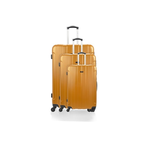 Sada 3 kufrů Roues Cadenas Orange, 105 l/72 l/40 l