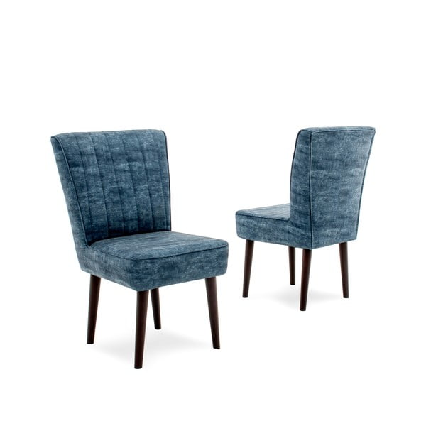 Tmavě modrá čalouněná židle Vivonita Leila
