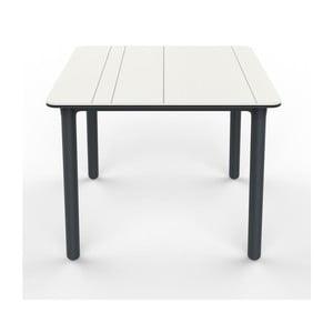 Šedo-bílý zahradní stůl Resol NOA, 90x90cm
