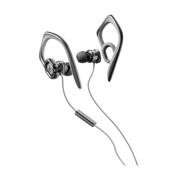 Sportovní sluchátka CellularLine GRASSHOPPER s mikrofonem, černá