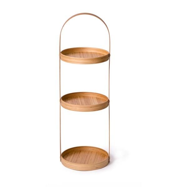 Kulatý třípatrový stojan do koupelny Caddy Bamboo