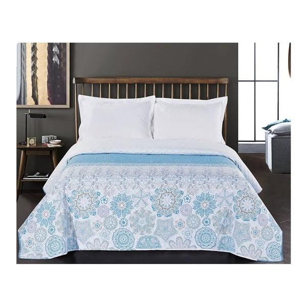 Alhambra kétoldalas kék-fehér mikroszálas ágytakaró, 260 x 280 cm - DecoKing