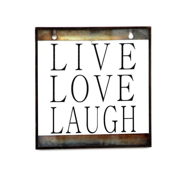 Skleněná tabulka s nápisem Love, 20x20 cm