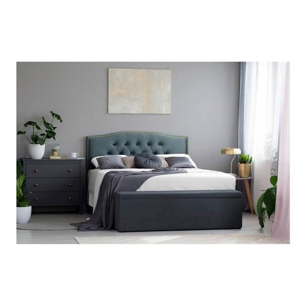 Petrolejově zelené čelo postele Mazzini Sofas Anette, 160 x 120 cm