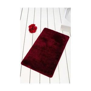 Tmavě vínová koupelnová předložka Confetti Bathmats Colors of Cherry, 60 x 100 cm