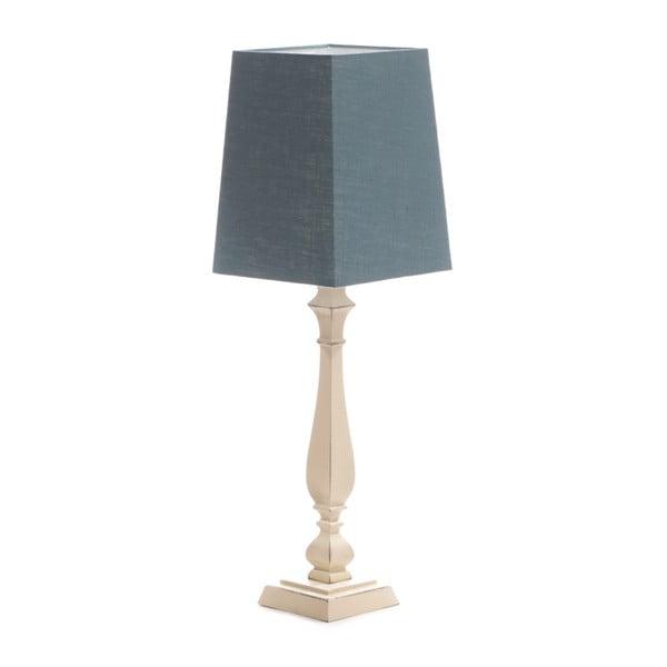 Modrá  stolní lampa Tower, bříza, 20 x 20 cm