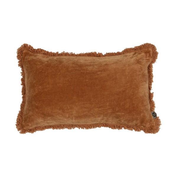 Oranžový dekorativní polštář BePureHome Velvet Syrup, 50 x 30 cm