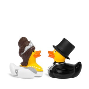 Rățușcă de baie Bud Ducks Mini Bride & Groom