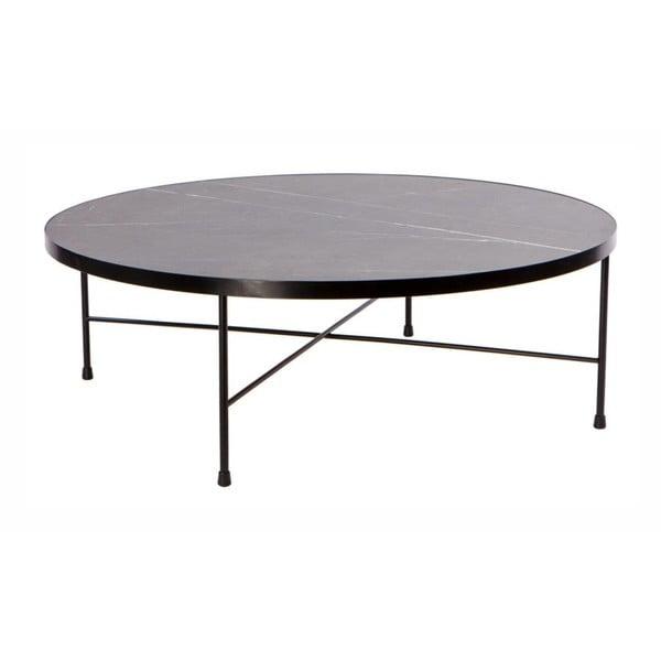 Marble fekete fém dohányzóasztal, ⌀ 90 cm - Nørdifra