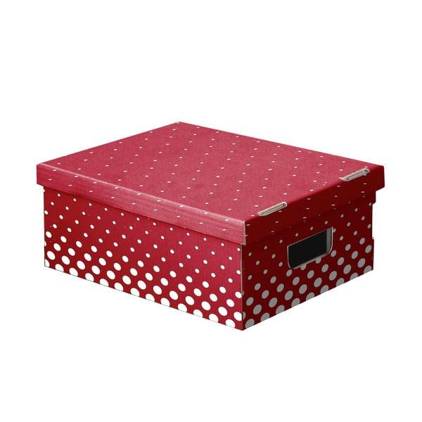 Sada 3 úložných boxů Ordinett New Red