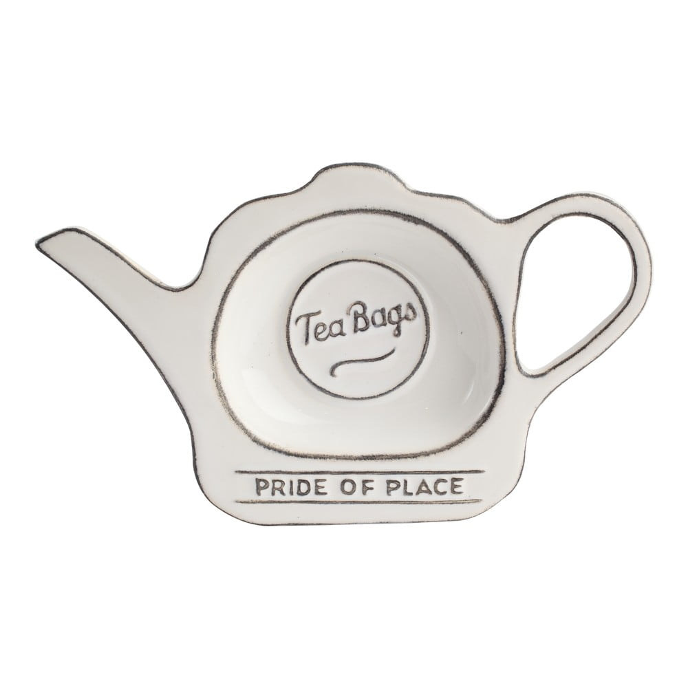 Keramický stojánek na čajové sáčky Pride of Place, bílý