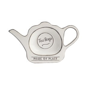 Suport din ceramică pentru pliculețe de ceai Pride of Place, alb