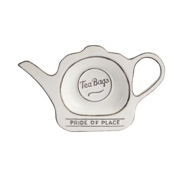 Bílý keramický stojánek na čajové sáčky T&G Woodware Pride of Place