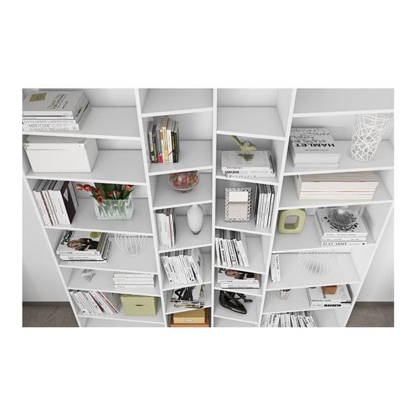 Bibliotecă TemaHome Valsa lățime 214 cm, alb