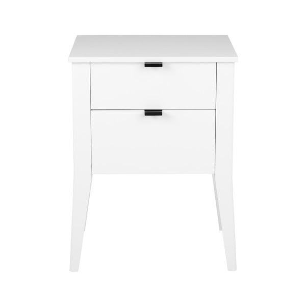 Biely nočný stolík s 2 zásuvkami Actona Sleepy