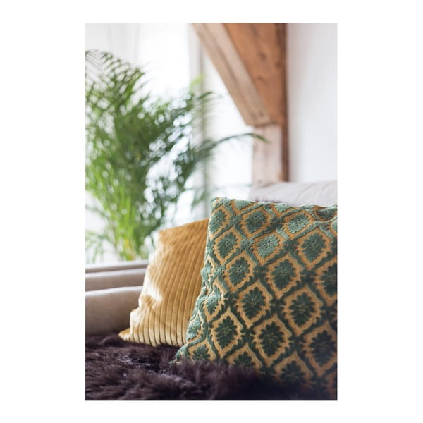 Zelený polštář Dutchbone Ottava, 45x45cm