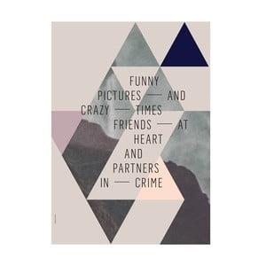 Autorský plakát Friends at Heart, A3