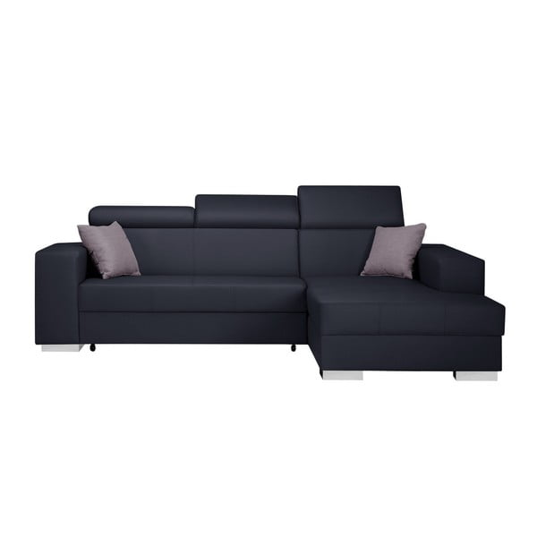 Tmavomodrá rozkladacia sedačka Interieur De Famille Paris Tresor, pravý roh