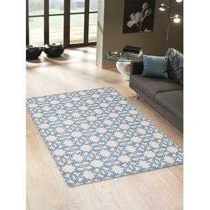 Vysoce odolný kuchyňský koberec Webtappeti Tiles Blue, 60x220 cm